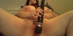Loud solo orgasm BBW housewife tracey
