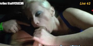 Fetish bitch in limo facialized