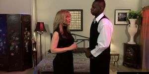 Nina Hartley plays the scorned billionaires wife in thi