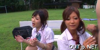 Japanese bimbo enjoys hard cock
