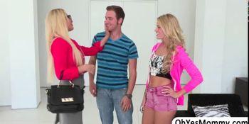 MILF Jennifer and Teen Jessa shares a huge dick