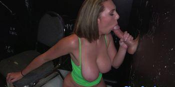 Brooke Wylde makes the glory hole wet