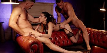 Hot Teen Emily Willis Tag Teamed In A Date Night