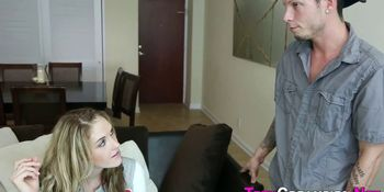 Blonde Haired Teen Fucked and Creampied