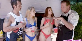 Jaycee moans as she gets her young slit pounded