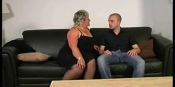 Giant granny fucked on the couch