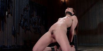 Small tits slave anal toyed in bondage