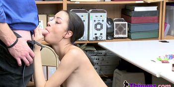 KINKY officer COERCING Asian TEEN petite to suck and RI