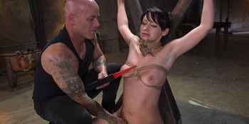 Brunette Gets Anal Fucked in Doggy Bdsm