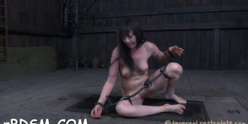 Oriental brunette girl is dildo her twat with a sextoy