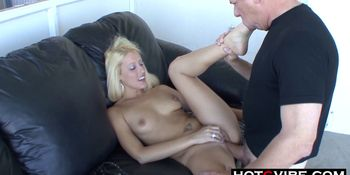 Young Blonde Teen Loves Old Man Cock