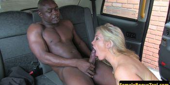Interracial lady taxi driver cumsprayed