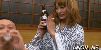 Japanese milf intense threesome