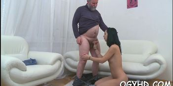honey blows old dick