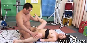 Blissful and wet Japanese blowjob