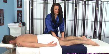 Hot brunette massage babe