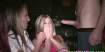 CFNM bachelorettes giving blowjob