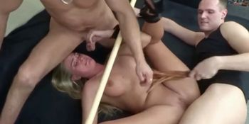 Fetish Threesome With Hot Chubby Milf