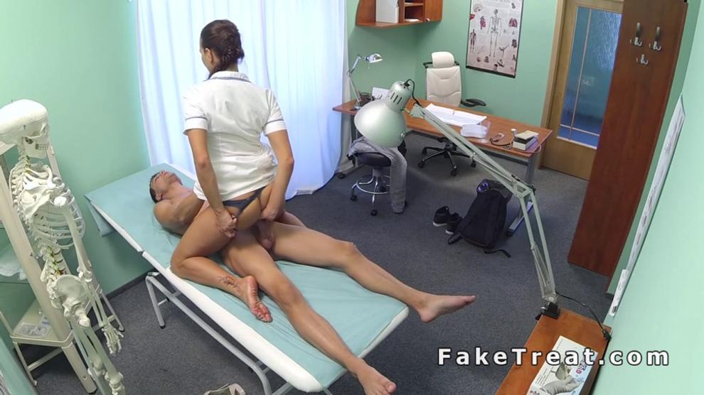 Nurse Gives Patient Handjob