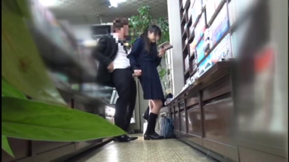 Censored Cute Japanese Student Fucked While Reading Porn Videos