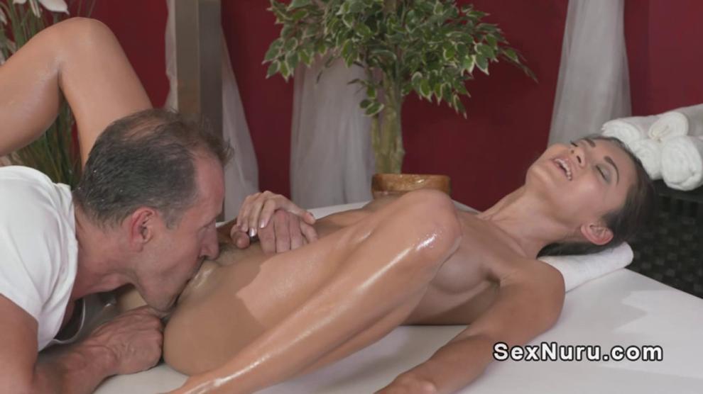 Hairy masseur