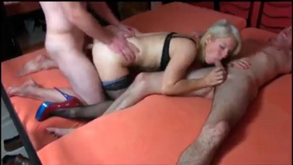German Milf Threesome Anal