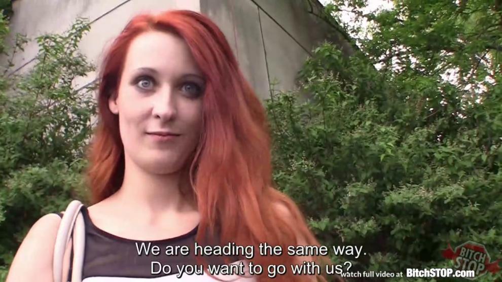 redhead outdoor sex