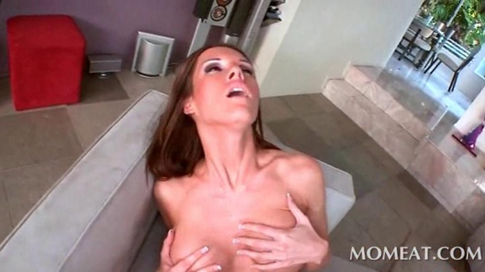 Arousing mom stuffs herself with black dick