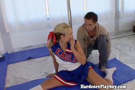 Flexible cheerleader craving hard cock