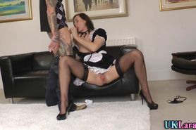 Stockings brit cum faced