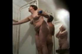 Hot housewives spied in a public shower