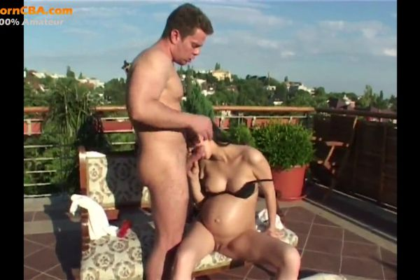 9 Months Pregnant Fucking In Balcon