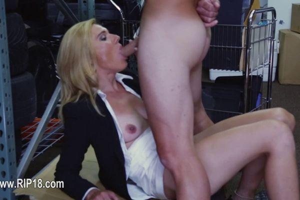 Mom nude on table